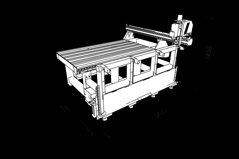 Фрезерный станок с ЧПУ ATS-2112, габариты